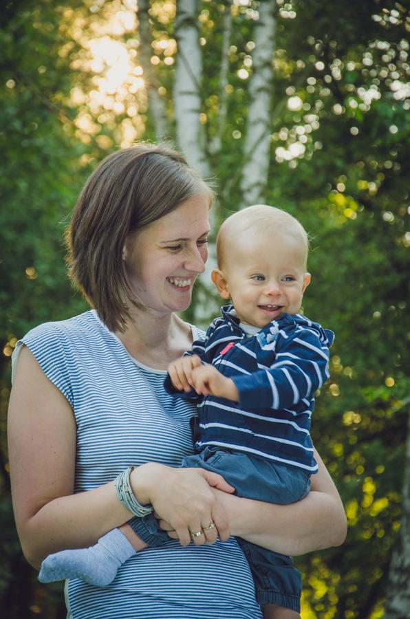 Chłopczyk z mamą