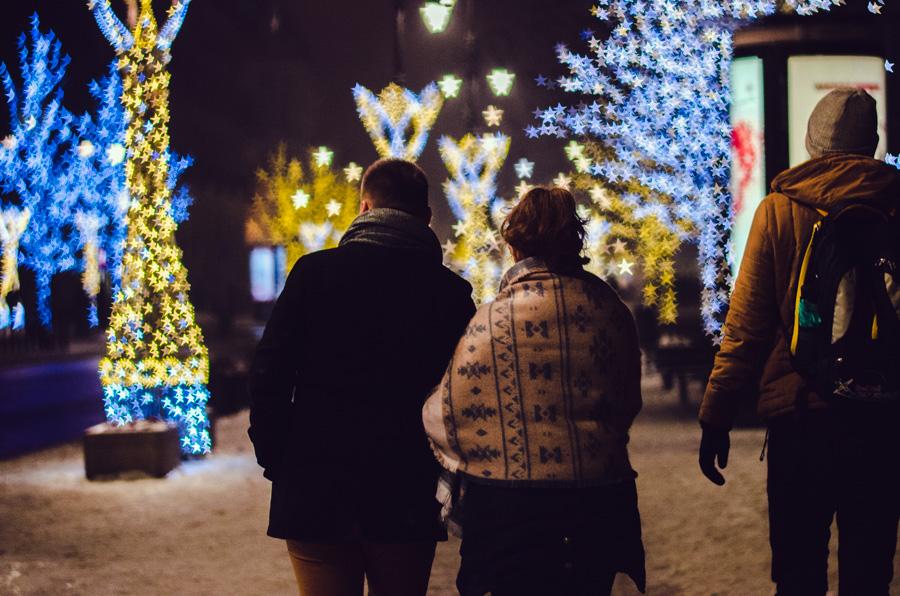 Zimowa sesja narzeczeńska Stare Miasto Warszawa