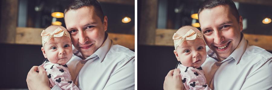 Dwa zdjęcia taty z córką