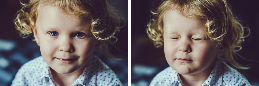 Dwa zdjęcia dziewczynki