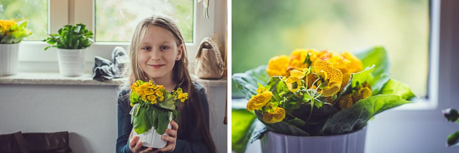 Dziecko z kwiatem