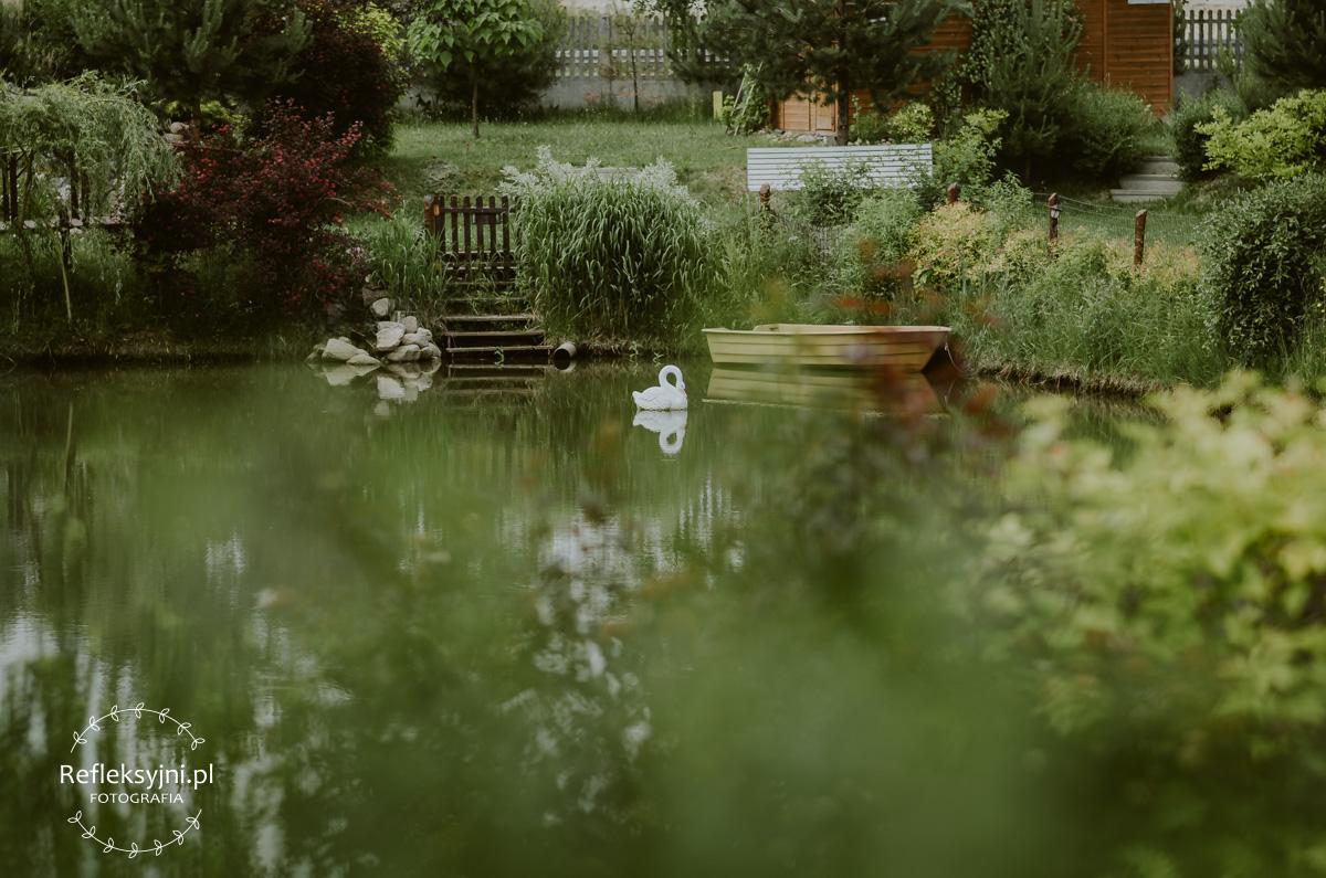 Staw i ogród w Ostrowi Mazowieckiej