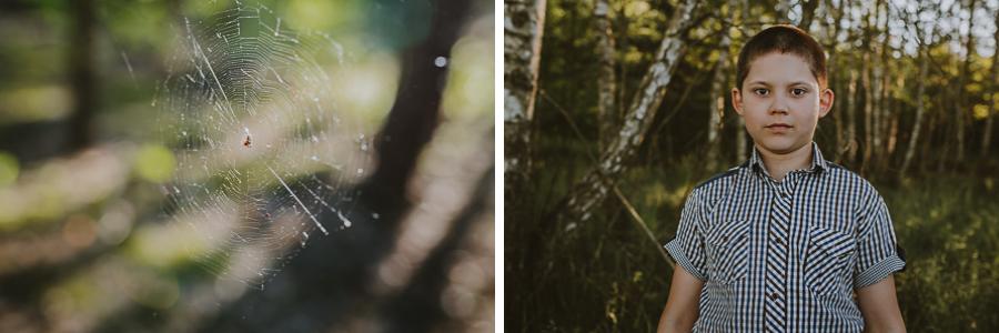 Chłopiec i pajęczyna