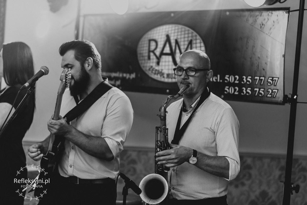 Na zdjęciu saksofonista zespołu RAM