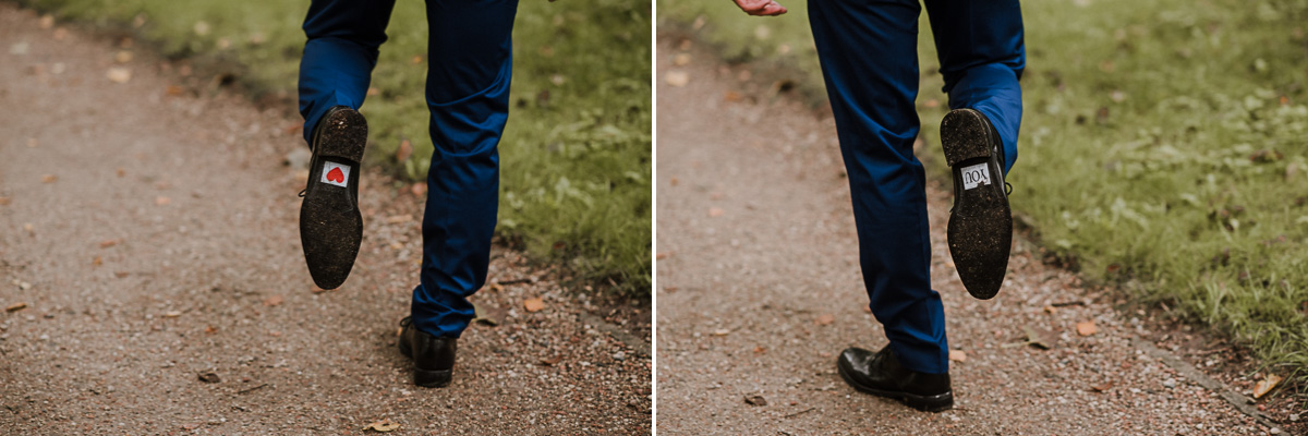 Naklejki na butach Pana Młodego