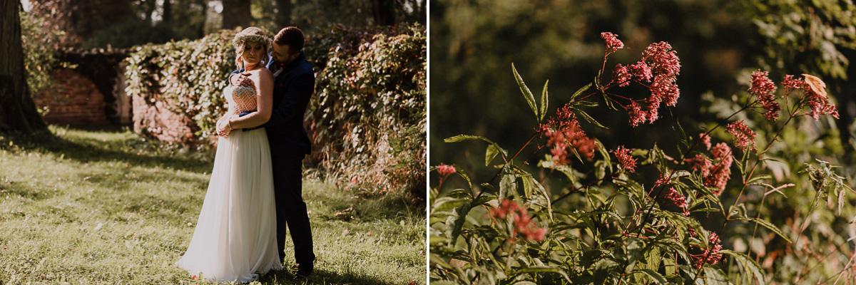 Para Młoda i kwiaty