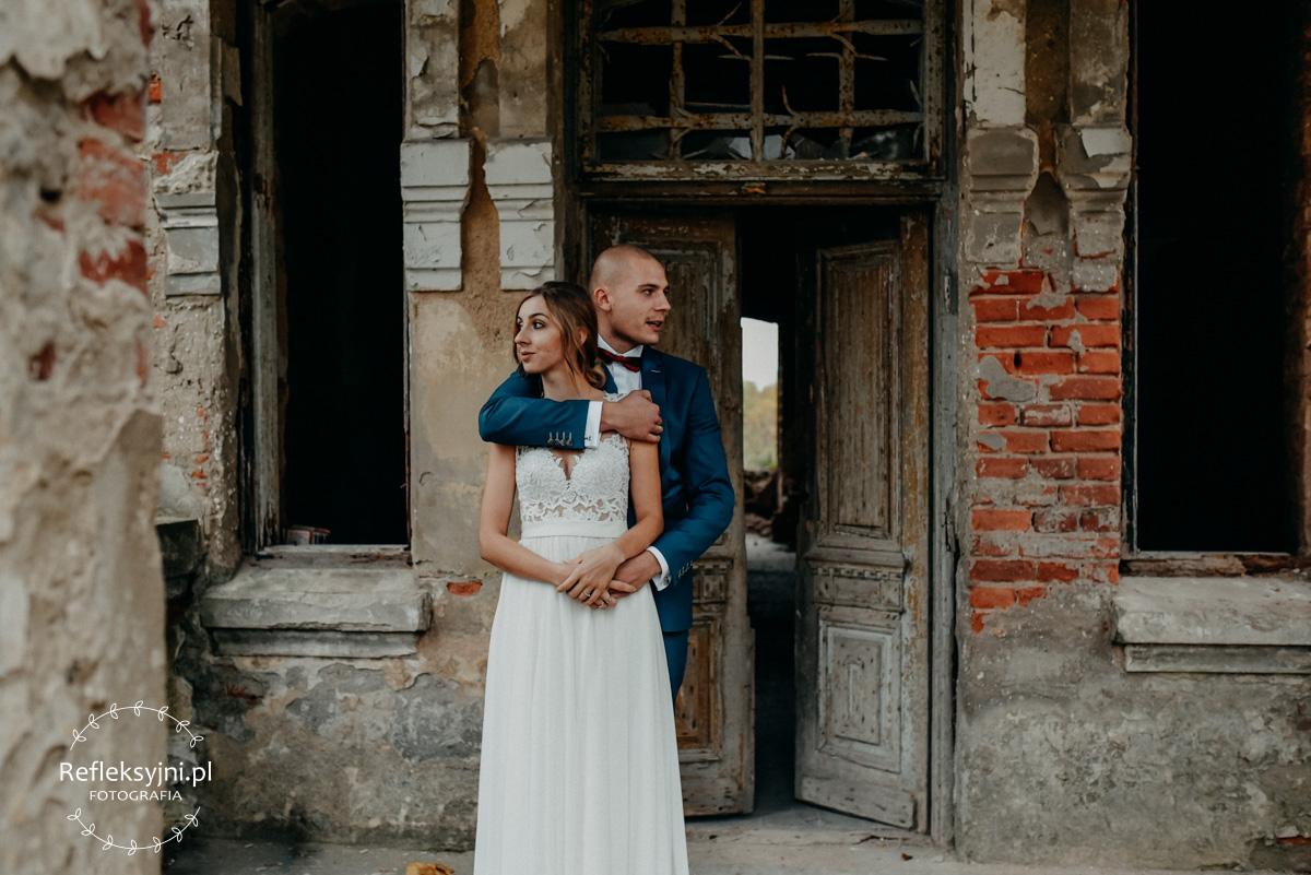 Sesja ślubna Karina i Mateusz Lubiejewo jesień