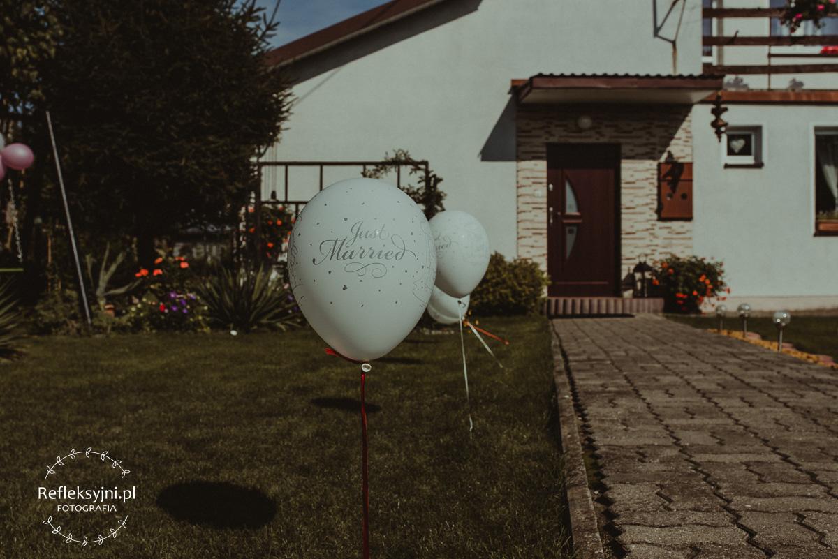 Balon z napisem Just married