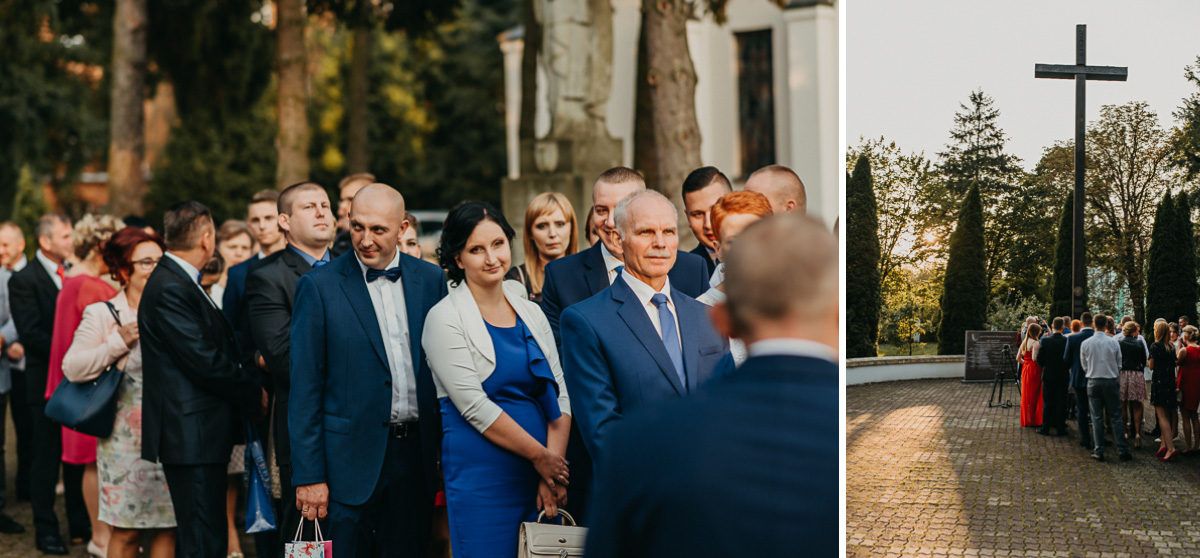 Goście weselni podczas dawania prezentów