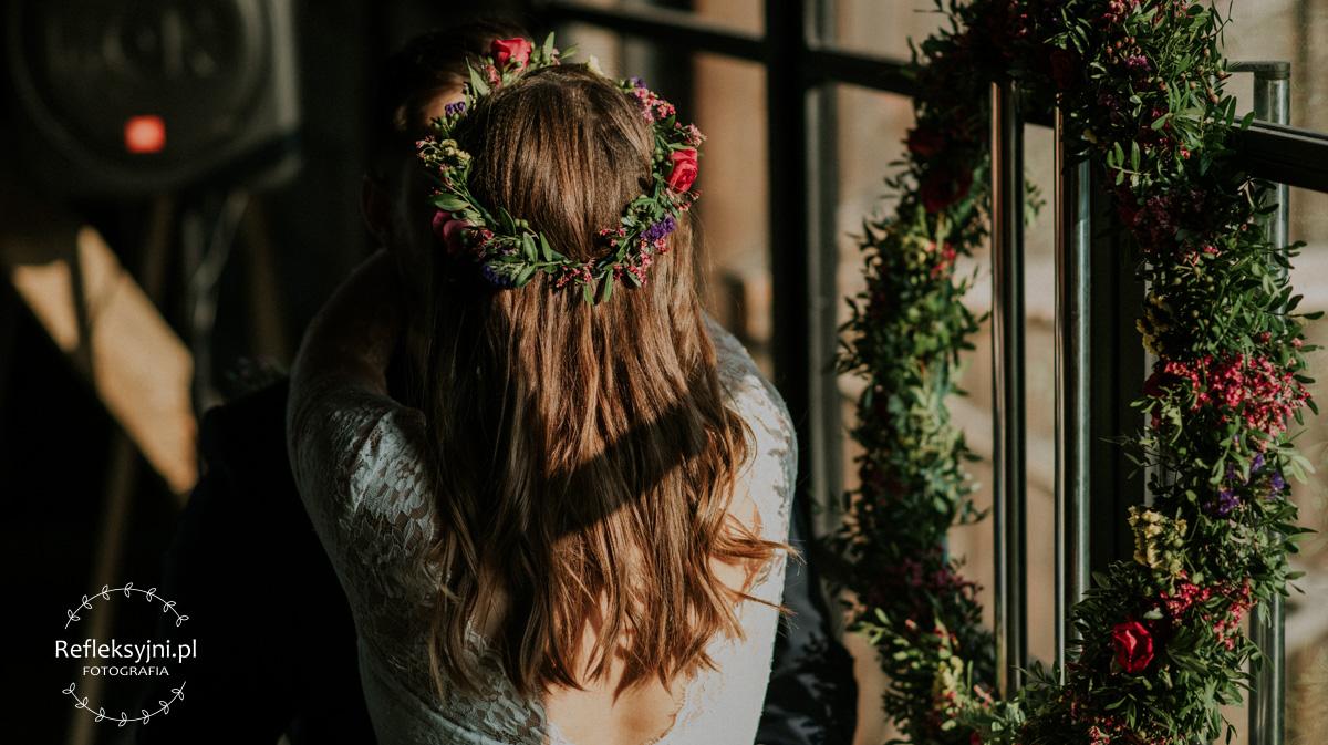 Wieniec ślubny i wianek