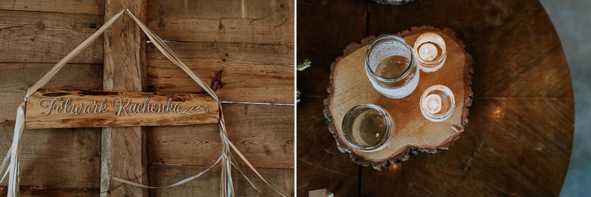 Folwark ruchenka dekoracje ślubne