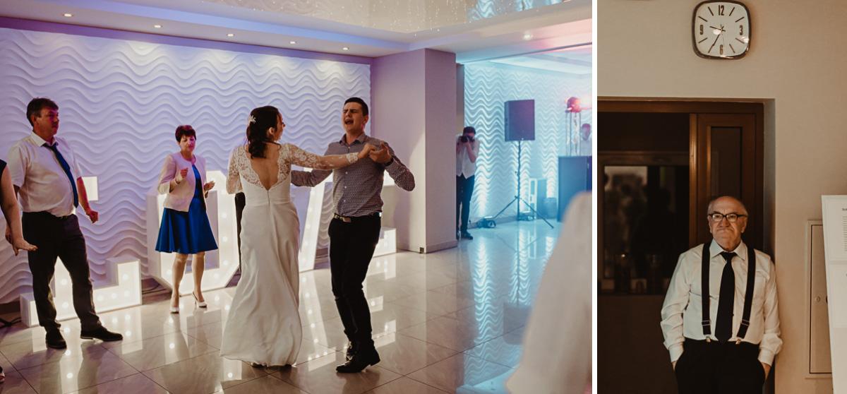 Goście bawiący się na weselu