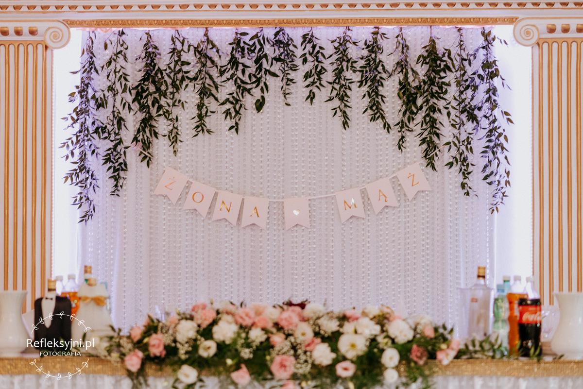 Detale ślubne napis żona i mąż