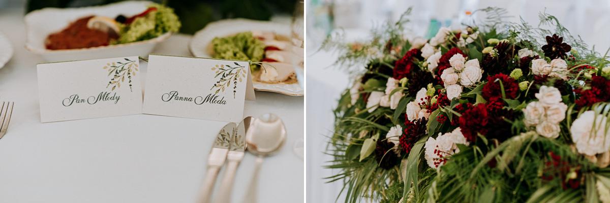 winietki i kwiaty weselne
