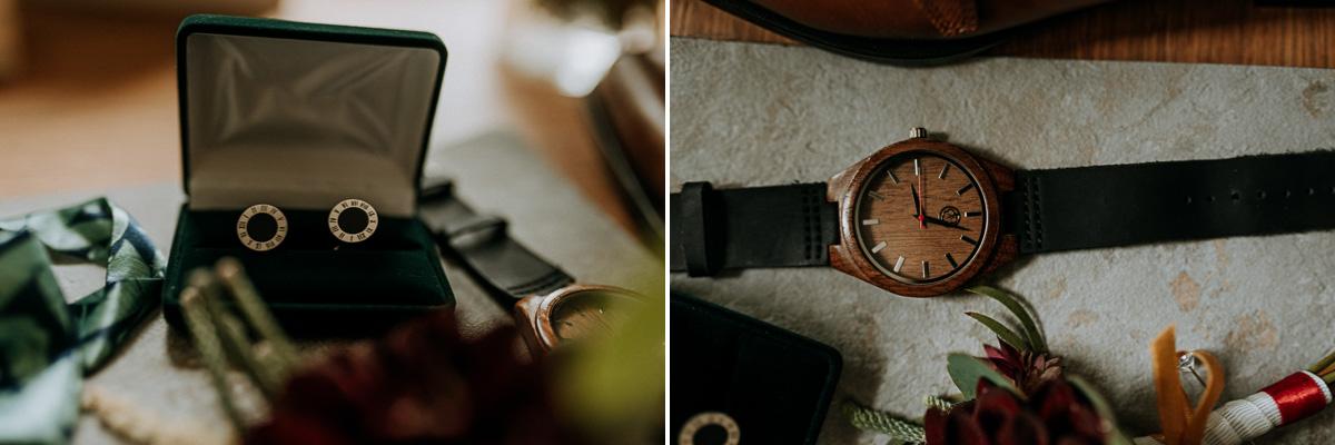 Zegarek i spinki