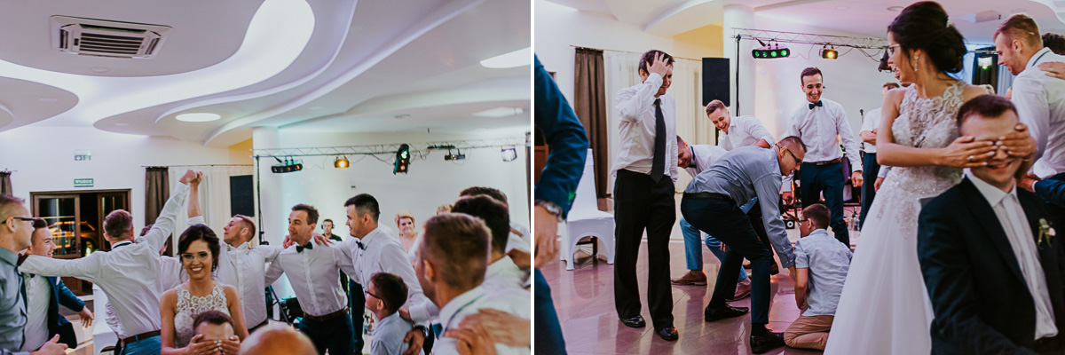 Ludzie tańczą na weselu