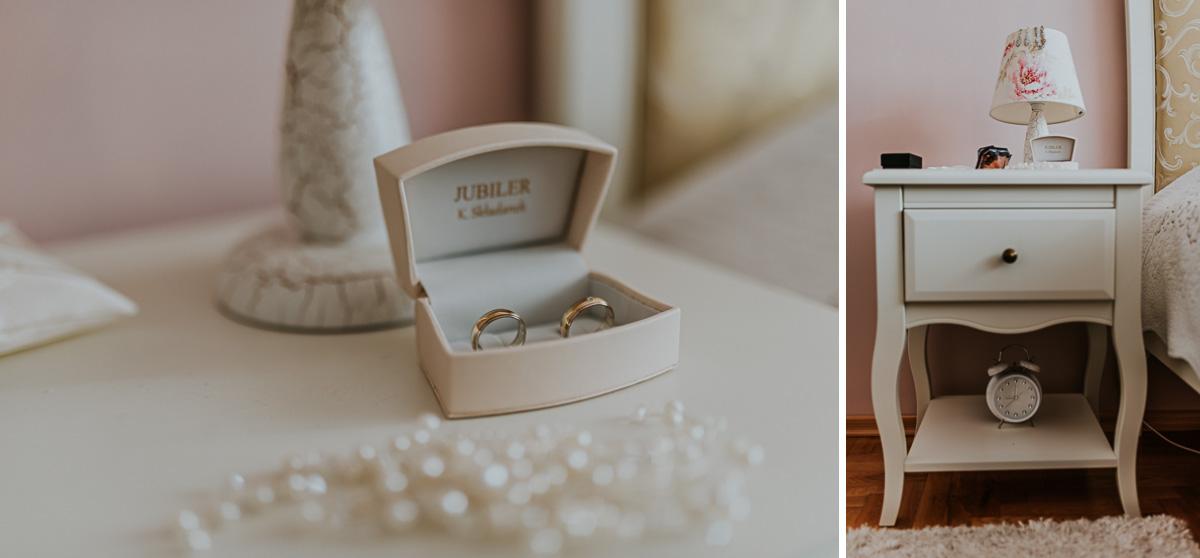 Na zdjęciu znajdują się obrączki ślubne