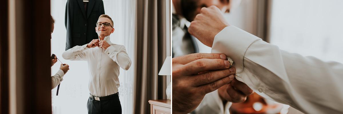 Pan Młody podczas przygotowań do Ślubu