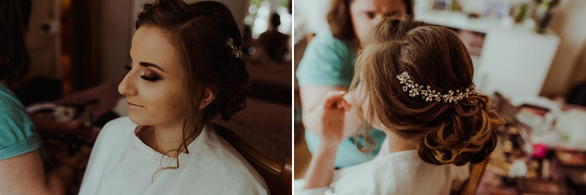 Ozdoba ślubna we włosach Pani Młodej