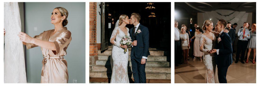 Państwo Młodzi podczas ślubu w Ostrowi Mazowieckiej