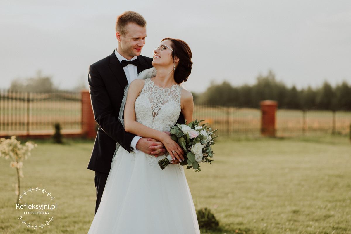 Plener ślubny Państwa Młodych w dniu ślubu