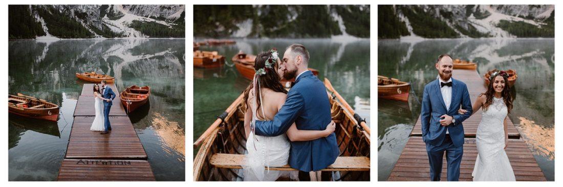Plenerowa sesja ślubna Julia i Paweł Lago di Braies Włochy