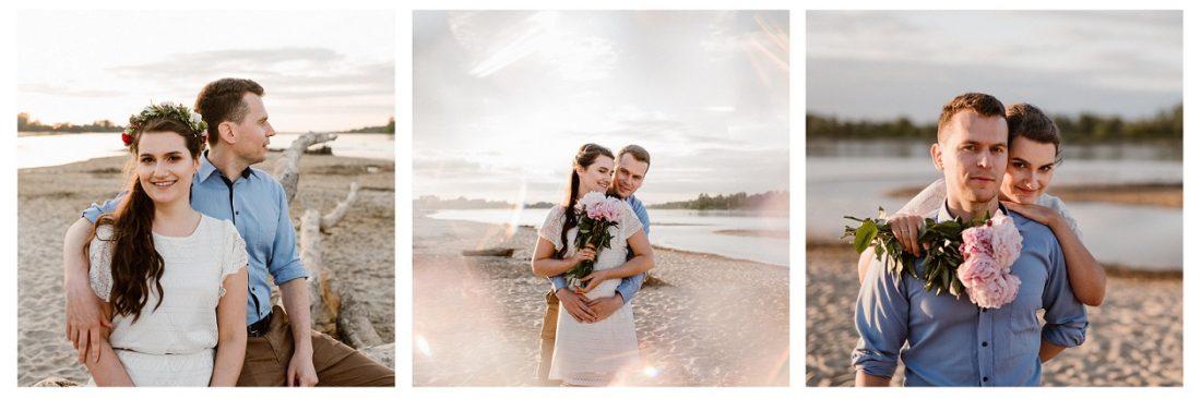 Beata i Sławek – romantyczna sesja na plaży