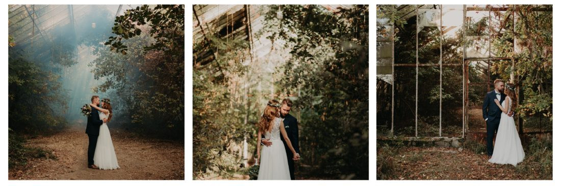 Plenerowa sesja ślubna w szklarni Asia i Maciek