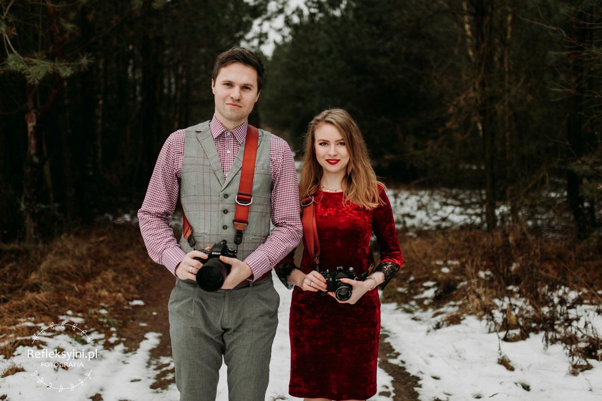 Dwójka fotografów ślubnych